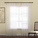 deux panneaux feuilles gracieuses à broder de polyester pure rideaux