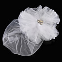 Bridal Fascinators Tulle con perla imitazione e sposa strass / copricapo Occasioni Speciali