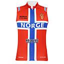 Kooplus2013 Championnat Jersey Norvège 100% Polyester Wicking Fibres Maillot de cycliste sans manches avec bandes réfléchissantes