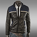 Men's Parka Coat , Cotton Blend Pure Long Sleeve