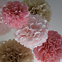 décoration de mariage 14 pouces fleur de papier - jeu de 4 (plus de couleurs)