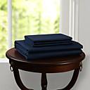 simples&opulence® folha plana, 300 tc 100% algodão sólido azul escuro