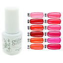 YeManNvYou®Sequins UV Color Gel Nail Polish No.1-12 (5ml, Assorted Colors)