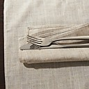 Set Of 6 Classic Solid Linen Napkin