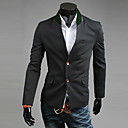 Men's Long Sleeve Blazer , Cotton Blend Pure