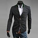 Männer Kontrastfarbe Stehkragen Einreiher Anzug