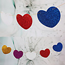 Wedding Décor Hanging Shining Paper Heart Banner(set of 15)--(More Colors)