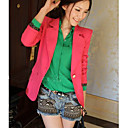 Women's Green/Pink/White Blazer , Casual Long Sleeve