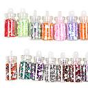 48 Kleuren Glas Bottled Nail Art Decoration Random Modellen