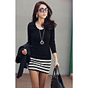 Women's Stripes Splicing Mini Dress