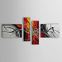 Hand-painted Oil Painting Abstract Figure with Stretched Frame Set of 4 1311-AB1139