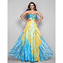 Formal Evening / Military Ball Dress - Print Plus Sizes / Petite A-line / Princess Strapless Floor-length Chiffon