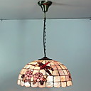 Max 40W Tiffany / Bowl Mini Style Painting Pendant Lights Living Room / Bedroom / Dining Room / Study Room/Office