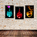 Flame in Goblet Still Life Framed Canvas Print Set of 3