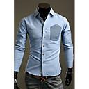 Menn individuelle langermet skjorte