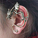 Women's Domineering Vintage stereo dragon stud earrings (random color)