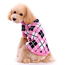 Dog Sweater Pink Winter Plaid/Check Plaid