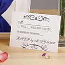 Cartes de réponse Invitations de mariage Carte plate Non personnalisés 12 Pièce/Set
