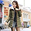 Kvinnor pälsfodrar hoodien Tjock Zipper Feather Coat