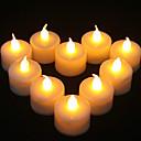 1PCS LED jaune en forme de bougie Lumière Supply Parti décoration de mariage (4.5x3.9x3.9cm)