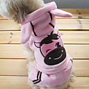 Lovely Cuty Pink Cow Cosplay Warm Suit with Hoodies for Pets Dogs (Assorted Sizes)