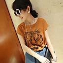 De las mujeres cabeza de impresión del tigre T-Shirt