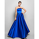 Formal Evening/Prom/Military Ball Dress - Royal Blue Plus Sizes A-line Strapless Floor-length Satin