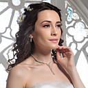 di alta qualità ceco lega strass placcato gioielli di nozze, tra collana e orecchini