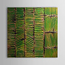 Peint à la main Peinture à l'huile Conseil bambou abstraite avec cadre étiré 1312-AB0017