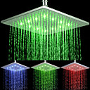 Rectangular Temperature-controlled 3 Colors LED Shower Head