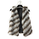 bont vest met mouwloze kraag in nepbont party / casual vest (meer kleuren)