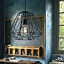 Hive Pendentif, 1 Lumière, Creative fer noir peinture