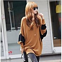Women's Contrast Color Batwing Blouse