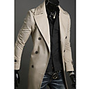Hombres capa delgada Double-Breasted Trench