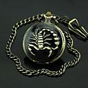 Men's Scorpion Pattern Bronze Alloy Quartz Pocket Watch