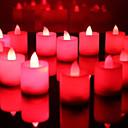 mariage décor bougies led rouge - ensemble de 6