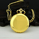 Men's Gold Alloy Quartz Pocket Watch