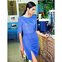 TS Asymmetrisk Veck Slim Dress