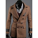 Men's Double-Breasted Slim Trench Coat