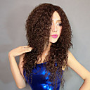 100% Kanekalon Syntetisk Fluffy Skrue Curly Brown Wig