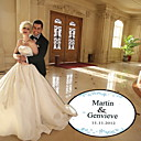 Wedding Décor Personalized Elegant Flower Dance Floor Decal (More Colors)