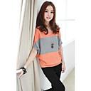 Women `s Casual Cape Sleeve Stripe Print T-shirt