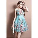 Women's Elegant Princess Embroidery Midi Dress