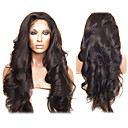 20inch peruanske Virgin Human Hair Full Lace parykker Natural Hårstrek