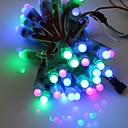 GOESWELL ™ WS2811 LED Pixel String Light 50Pcs/String 12mm DC5V RGB Color Channel kirje joulukuusi