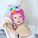 Infantil Estilo Coruja Handmade Crochet Knit Beanie Hat