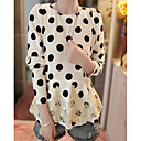 Women's Black/White Blouse Long Sleeve