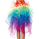 8 Layer-Regenbogen Tulle Bouffant Schwanz Frauen Burlesque-Party Dance Club-Rock