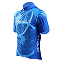 Jaggad Mænd Summer Polyester Spandex Rear Pocket Cycling Jersey