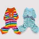 Colorful Rainbow Jumpsuits with Button Design for Pets Dogs (Assorted Colors, Sizes)